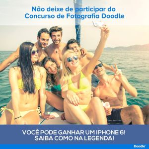 Chamada utilizada no Facebook do Doodle Brasil